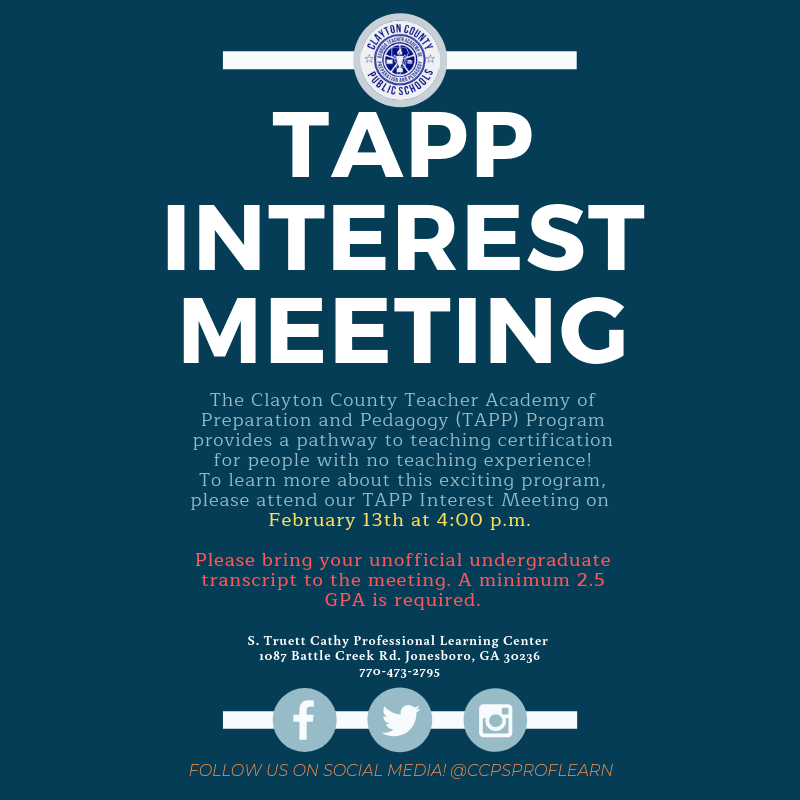 TAPP Interest Meeting February
